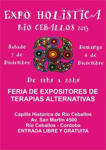 Expo Holistica Rio Ceballos feria de terapias alternativas