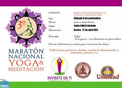 Orgonitos en Maratón Nacional de Yoga y Meditación